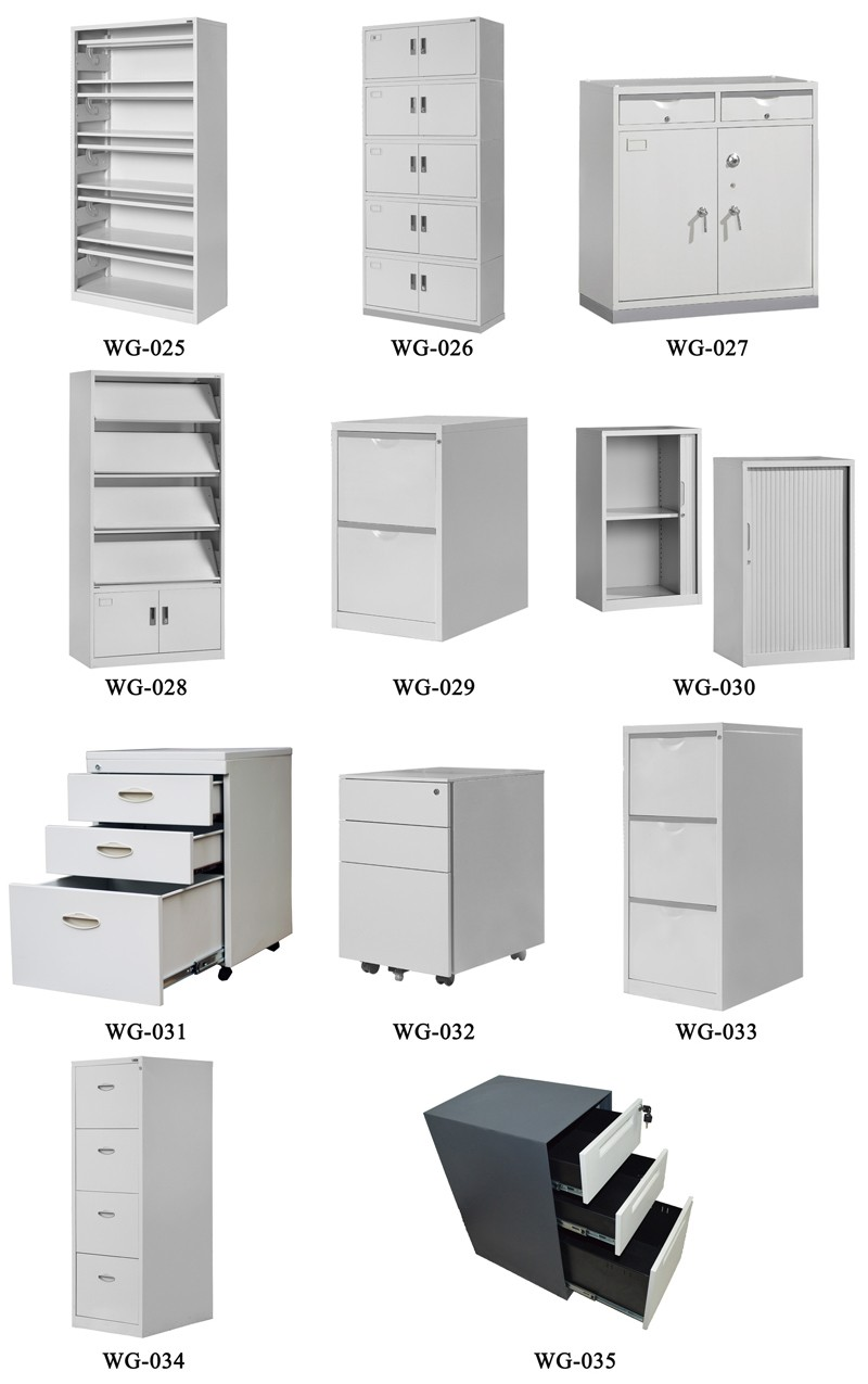 JZD Furniture Latest Design Top with Sponge Pillow 3 Drawer Movable Filing Cabinet