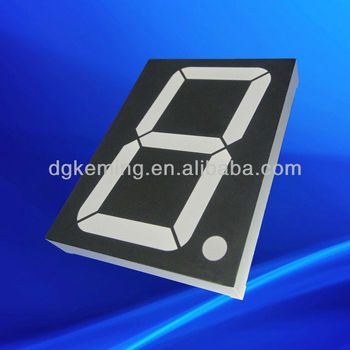 black surface one digit 3 inch dual color 7 segment led display