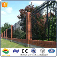 Ornamental Powder Coated Galvanized Wrought Iron Fence/Steel Fence