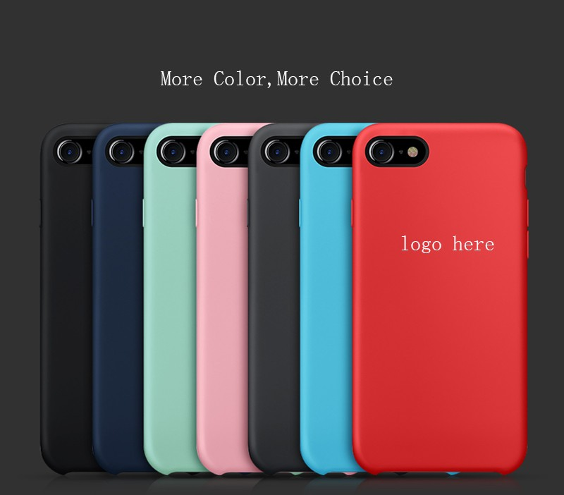 summer promotion!original red silicon phone cases mobile phone cover for apple iphone 6s 6 7