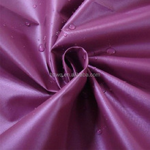 china supplier polyester 210t taffeta fabric lining coated pu for bags