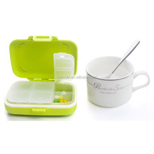 LOOK BACK Plastic Child Resistant Pill Box and 2 Week Pill Box to Store Pill Separately