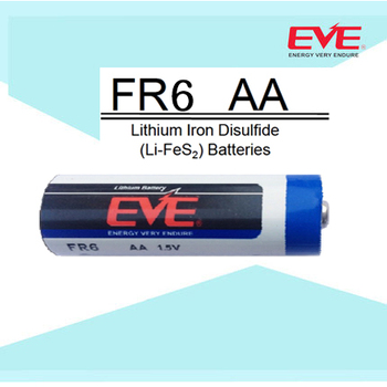 EVE Battery Lithium Primary Lithium Iron Disulfide Batteries FR6 AA 1.5V 3000mAh Battery