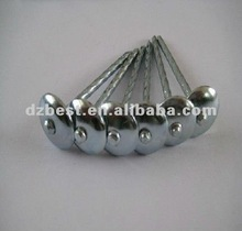 screw shank coiled roofing nails with umbrella head(factory)