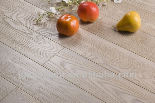white wash stained Ash parquet wood flooring fsc certified