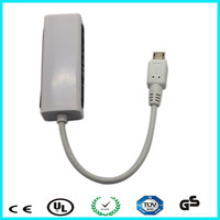Support 1000 Mbps micro usb to ethernet lan network rj45 card adapter