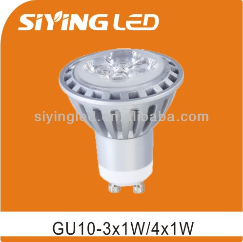 GU10 High Power LED Spotlight 4x1w 350LM LED light cup