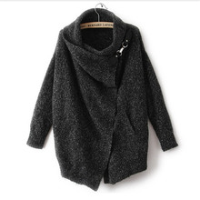 Thicken Women Cashmere Winter Sweater 2015 Women Clothing Autumn Fashion Cardigan Knitted Black Poncho Sweater Top176