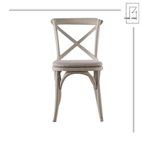 Cross Back Removable Seat Dining Room
