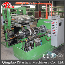 Automatic two wheels tire spring turn up type building machine
