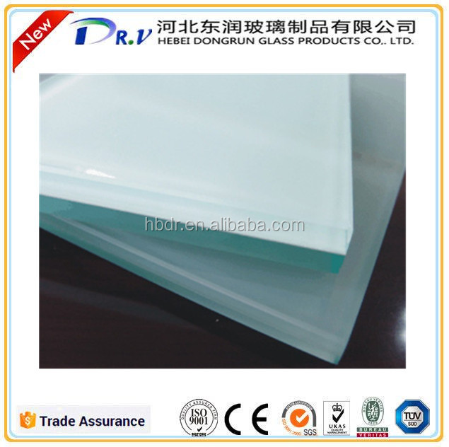 Top quality MIlk white pvb film laminated safety glass for sale