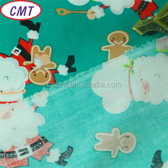 printing coated with Santa Claus hot sale for Christmas nylon fabric