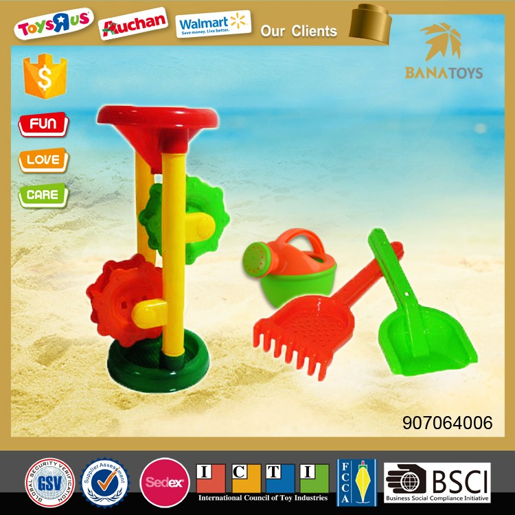 Wholesale plastic funnel with water can beach toy for summer