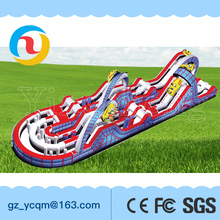 Manufacturer supply new land inflatable obstacle course adults bouncy castle for sale
