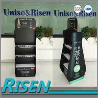 RISEN multipurpose milk tea/ beverage shop cheap price reinforced promotion floor display stand