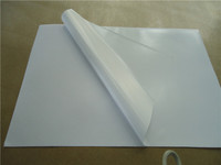 White PVC self adhesive vinyl for screen label printing