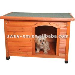 UW-WH-002 Cool and waterproof dog wood house,three different size for choice