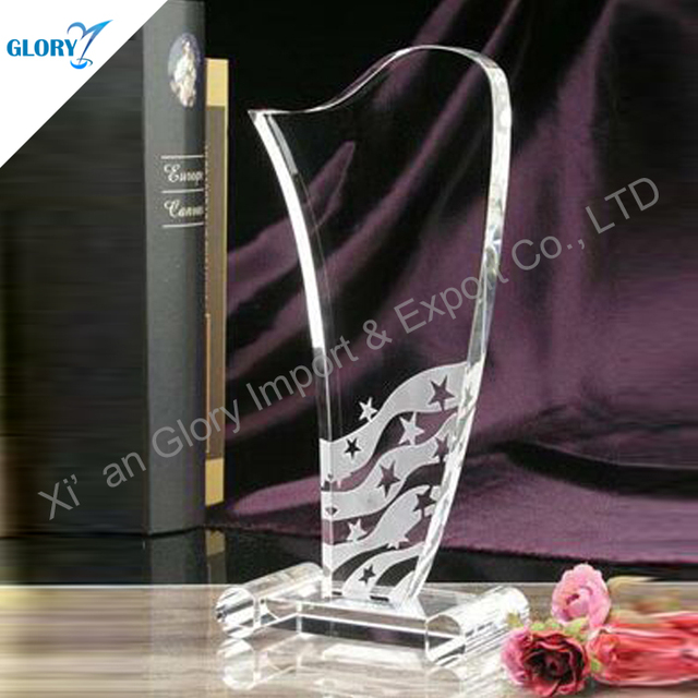 Competitive personalized crystal trophy fashion crafts with base