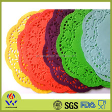 Disposable hign quality and best price colorful lace paper doilies