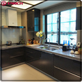 Modern style kitchen cabinets lacquer finish door panel with granite top elegant kitchen cabinets