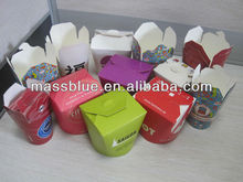 disposable higher quality paper noodle box/ packaging box