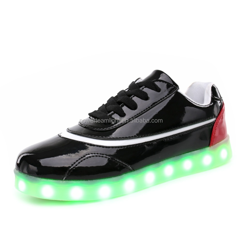 2017 New Arrival led light running shoes men women with USB Charging Shine Shoes
