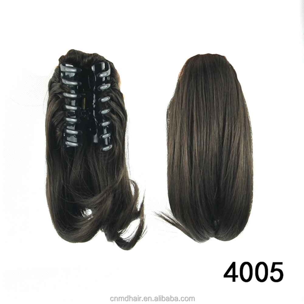 High Temperature Fiber Synthetic Hair Claw Ponytail Short Hairpieces Clip in Hair Extension Little Pony Tail