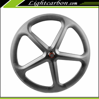 2017 LightCarbon Best fashion 50mm road 5 Spoke carbon composite bike wheels 700c tubular chinese road wheels for bicycles-5S-50