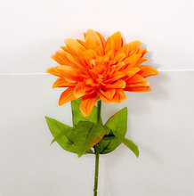 Silk Flower Artificial Dahlias Fall Vivid Artificial Dahlias