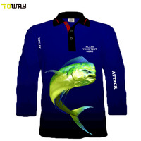 long sleeve tournament polyester fishing shirts