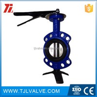 wafer type di/ci/ss worm gear drive butterfly valve ansi/jis/din fire use