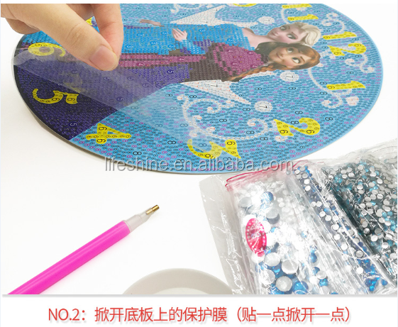Newest DIY clock diamond painting 5D embroidery kit
