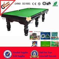 HALF Billiards ( 12 Years Factory ONLY for Billiard / Pool / Snooker Table) Quick Delivery Wooden & Slate Pool Table for sale