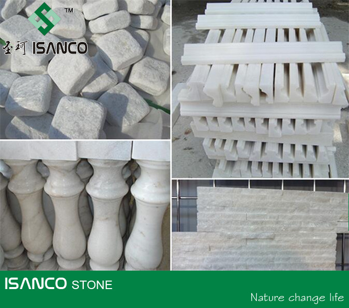 Best Snow White Marble Handrail,Marble Floor Molding,Marble Cubes&Culture Stone