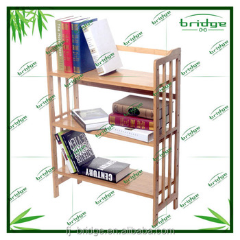 2015 morden3-tire bamboo / wooden bookshelf