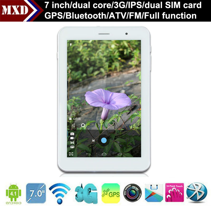 7 inch MTK 8377 dual core 3g sim card android tablet pc