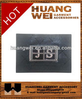 name brand garment pu leather metal patchs