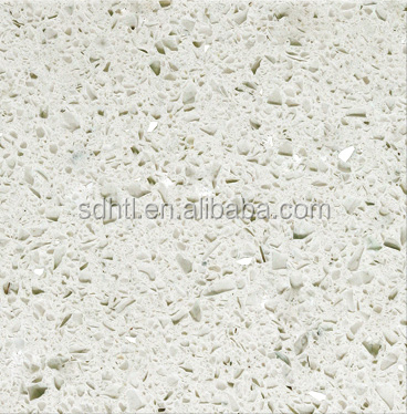 China NSF approved green quartz countertops manufacturers, artificial white mirror fleck quartz stone countertop for bathroom