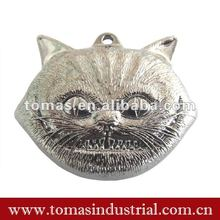 Silver animal head metal religious medal award