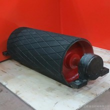 Electric belt conveyor drive pulley drum