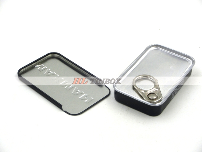 Rectangle Sliding Tin Can Condom Metal Tin Case with Seam Welding Easy Open End