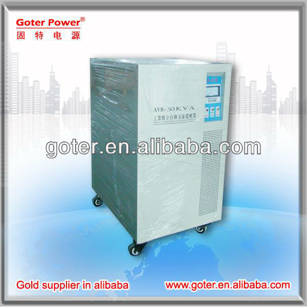 30KVA SVC 3 Phase Servo Motor Industrial AC Automatic Carbon Brush Voltage RegulatorStabilizer /Energe Saver