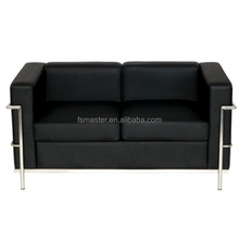 Top Quality New Modern PU Leather Sofa Le Corbusier replica LC2 2seater sofa