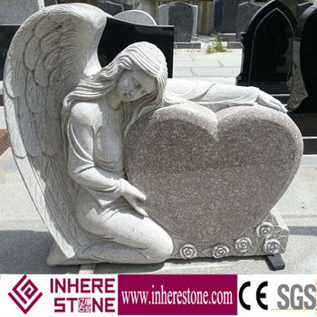 Cheap granite G664 heart shape tombstone