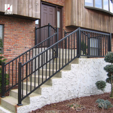 Black square pipe modern design for aluminum balcony railing prices