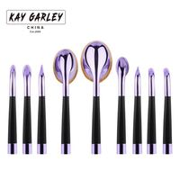 9 pcs synthetic hair toothbrush face rose gold oval makeup brush set with box pro foundation contour cosmetics brush 0904