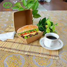eco custom food packaging hamburger packing paper boxes