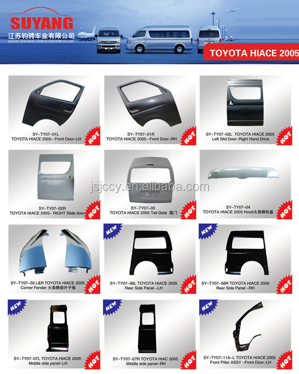 Toyota New Parts Online: Toyota Hiace Minibus New Model Front Door Auto Body Kits
