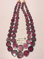Latest Natural Gemstone Bi-Color Necklace Watermelon Tourmaline
