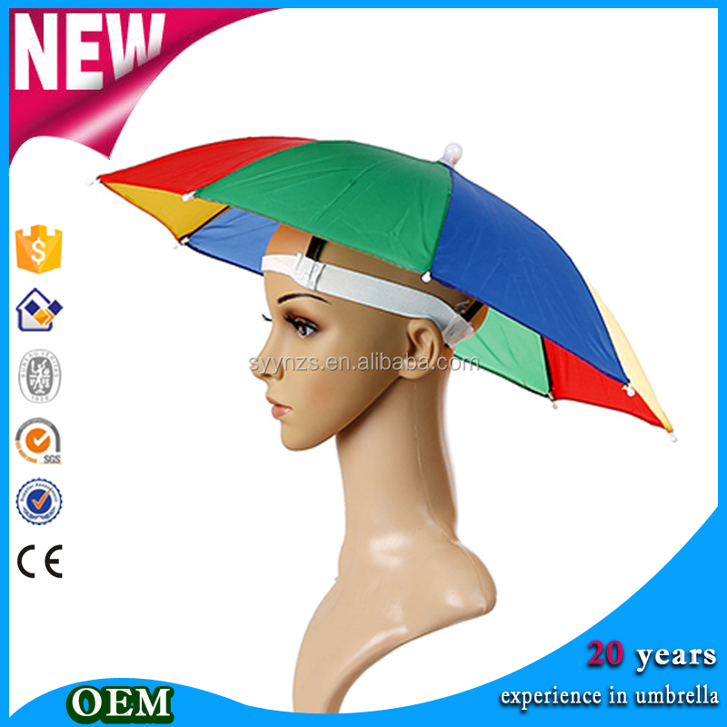 Newest top sell Multicolor 12 inches logo printed mini umbrella hats